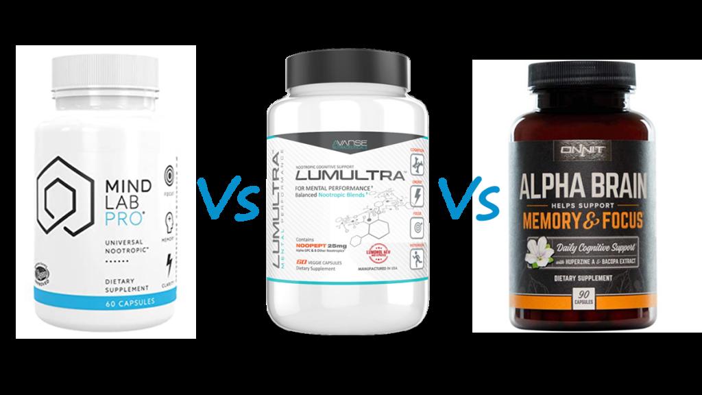 Mind Lab Pro vs Lumultra vs Alpha Brain Selye Institute Review