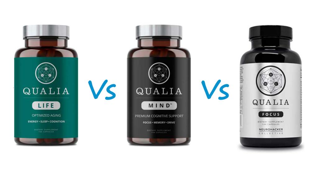 Qualia Life vs Mind vs Focus(Qualia Mind Essentials) Selye Institute